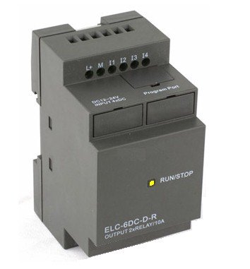 Smart Relay Programmable Controller 12/24Vdc, With 4 Dc Inputs, 2 Relay Outputs, 365 Days Clock, Timers