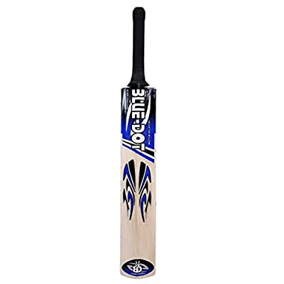 Blue Dot Gold Kashmir Willow Tennis Cricket Bat (Size-SH)