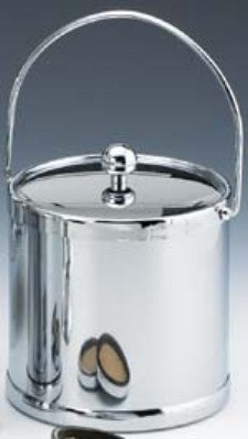 Kraftware 70092 Americano 3 Qt Ice Bucket With Bale Handle In Chrome