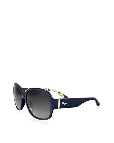 Salvatore Ferragamo Women's SF603S Sunglasses, Navy Blue