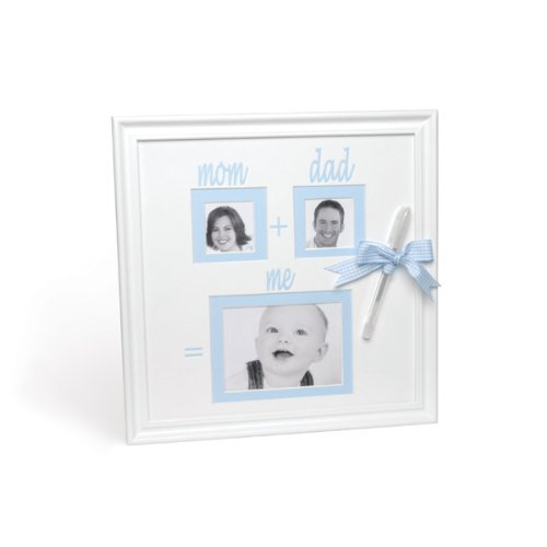 Mud Pie Baby Little Prince Blue Autograph Frame with Pen