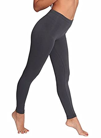 American Apparel Cotton Spandex Jersey Legging, Asphalt, X-Small