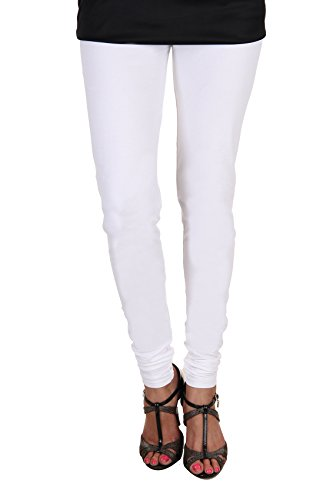 ITNOL Cotton Lycra Leggings (Pack Of 2): White/ Black