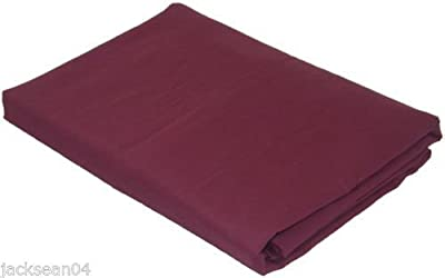 King Size Aubergine Luxury Cotton 76/68 Pick Fitted Sheet Bed Linen