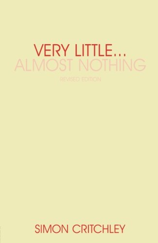 Very Little... Almost Nothing: Death, Philosophy, and Literature (Warwick Studies in European Philosophy)
