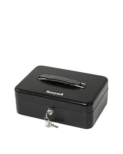 Honeywell Standard Steel Cash Box, Black