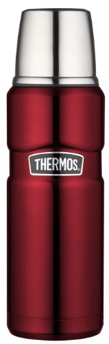 Thermos Stainless King 16-Ounce Compact Bottle, Cranberry front-525149