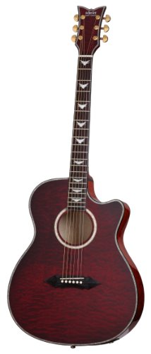 Schecter Omen Extreme 6-String Acoustic-Electric Guitar, Black Cherry