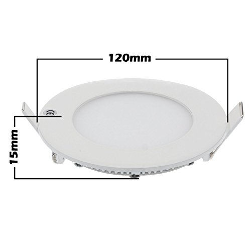 2 Days Delivery Led Panel Light , Round Recessed Downlight, Ac 100 - 245V, Cool White (Cool White, 6 Watts)