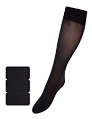3 Pairs of Silky Soft Knee Highs