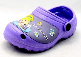 Girls Lilac Disney Cinderella rubber clog style mules sandals NEW