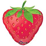18 INCH MYLAR PARTY BALLOON STRAWBERRY SHAPE DECORATION
