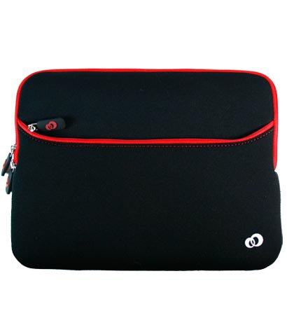- Red *Prune-Form-Factor* Carrying Case Front Bag Sleeve for Sony VAIO W 10 Netbook (+ 1pc Down the drain-n-Found ID Tag) ..... Best Seller on Amazon!