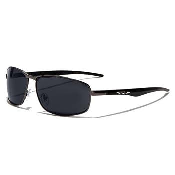 X-Loop Lunettes de Soleil Aviator - Ville - Mode - Fashion - Clubbing - Conduite - Moto - Plage / Mod. 4270 Platine Noir / Taille Unique Adulte / Protection 100% UV400