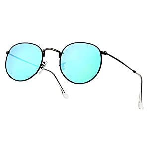 Rocks Lady Top Grade Exquisite Fashion Sunglasses(Blue)