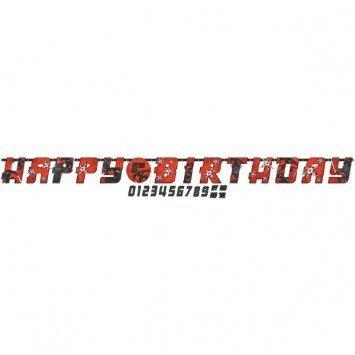 Ninja Birthday Jumbo Add-An-Age Letter Custom Banner (Ninja Birthday Banner compare prices)