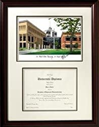 Saint Cloud State University Graduate Framed Lithograph w/ Diploma Opening