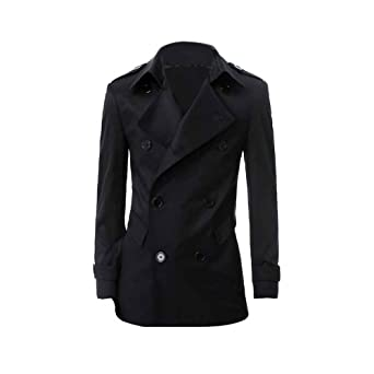 Buy Zicac Mens Double Breasted Strap Trench Wind Coat by Zicac