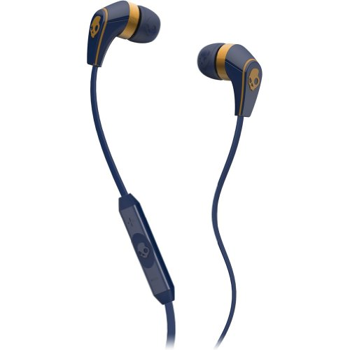 Skullcandy 50/50 With Mic3 Earphones/Earbuds Premium Headphone - Navy/Gold / One Size