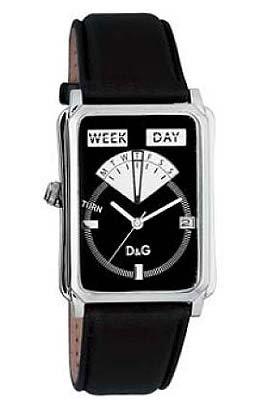 D&G Dolce&Gabbana D&G Sea Quest - Reloj analógico unisex de cuarzo con correa de piel negra - sumergible a 30 metros