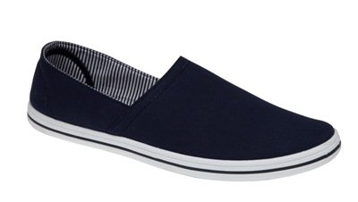 MENS PLIMSOLES SLIP ON PUMPS TRAINERS PLIMSOLLS ESPADRILLES SHOES CANVAS BOYS SIZE ADULT NAVY 9