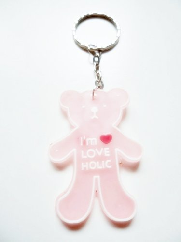 1x Double Sided Clear Pink I'm Love Holic Teddy