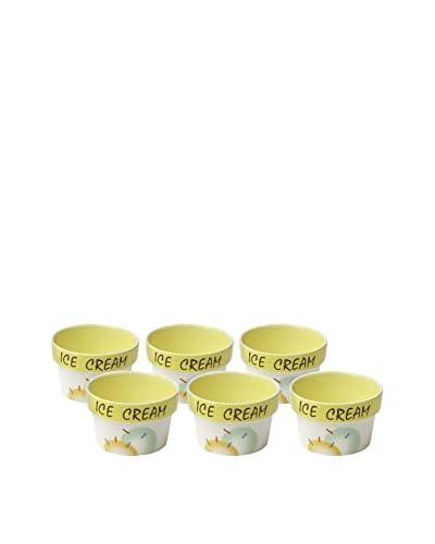 Woodard & Charles Set of 6 Ice Cream Bowls, Yellow