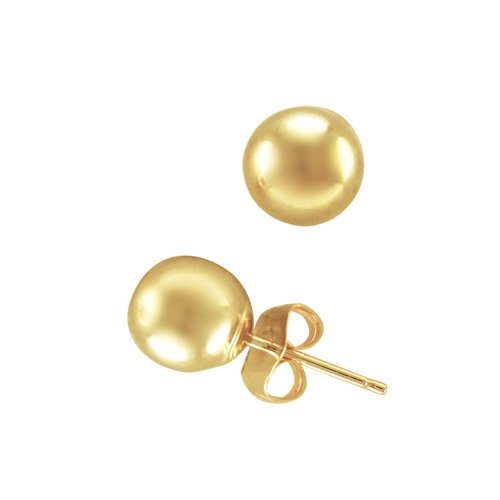 6mm Ball Stud Fashion Earrings in 14K Yellow Gold