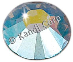 Kandi Corp Hotfix Swarovski Crystals 7mm Crystal Ab 7/Pkg 127-02; 3 Items/Order