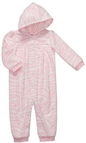 Pink Zebra Baby Blanket front-177481