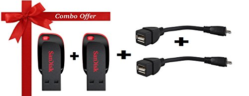 Sandisk-16gb-Pendrive-2pcs-Combo-with-free-2-pcs-Otg-Cable