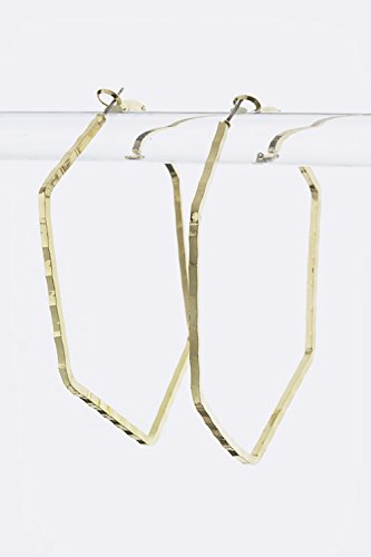 Trendy Fashion Jewelry Hexagon Hoop Earrings By Fashion Destination front-180579
