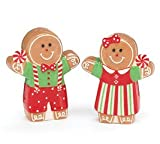 Gingerbread Girl And Boy Salt & Pepper Shaker Set