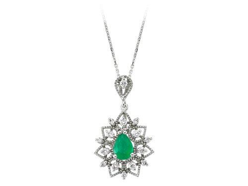 Sirius Diamant Stern Motiv Smaragd Diamant Collier Weissgold