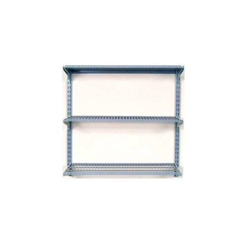 Triton Products 1795 Storability 34-Inch Length by 32-Inch Height Wall Mount Shelving Unit with 3-Wire Shelves (Metal Shelving Wall Unit compare prices)