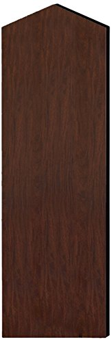 Salsbury Industries 33346Mah Double End Side Panel For 21-Inch Deep Designer Wood Locker With Sloping Hood, Mahogany Brown front-508910