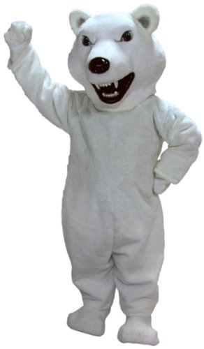 Scary Polar Bear Mascot Costume
