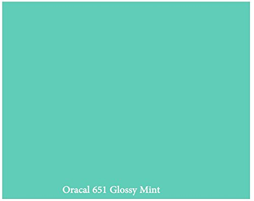 "12"" X 10 Ft Roll Of Glossy Oracal 651 Mint Repositionable Adhesive-Backed Vinyl For Craft Cutters, Punches And Vinyl Sign Cutters By Vinylxsticker front-625542"