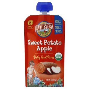 Puree Pouch, 95% Organic, 2, Sweet Potato Apple, 4 Oz (Pack Of 12 ) front-351852