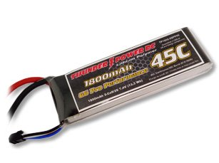 1800mAh 2S 7.4V G6 Pro Performance 45C LiPo