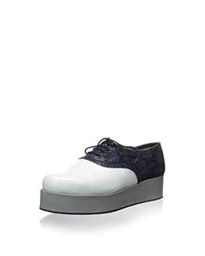 Surface to Air Women's Mocks Creeper Oxford  [Dark Grey/Off White/Grey]
