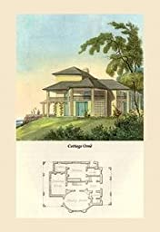Paper poster printed on 20 x 30 stock. Cottage Orne #6