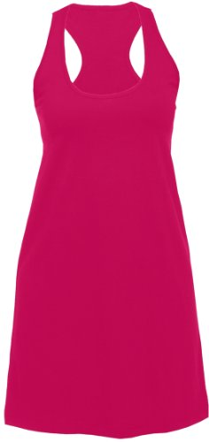 Solid Fuschia Pink Lounge Sleep Tank Long Shirt for Women, Extra Small (Extra Long Nightshirts compare prices)