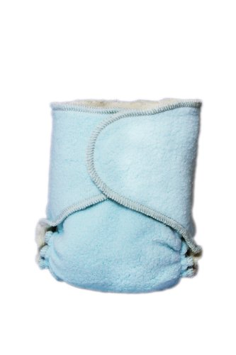 Kissaluvs Cotton Fleece Hybrid One Size Contour Diaper, Blue front-990084