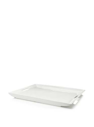 10 Strawberry Street Whittier Rectangle Platter White 15 x 20