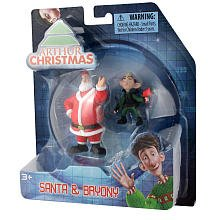 Arthur Christmas Mini Figure 2Pack Santa Bryony - 1