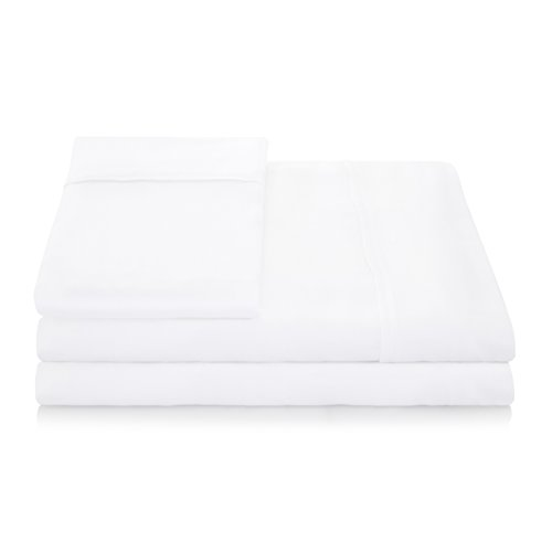 LINENSPA 1500 Series 100% TENCEL Super Soft, Ultra Light Sheet Set - Split Cal King, White (Twister Sheets Queen compare prices)