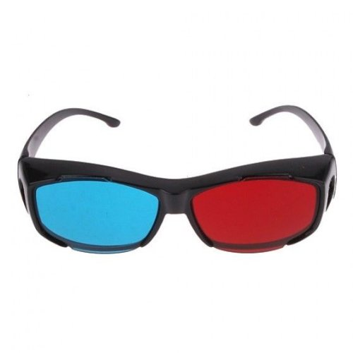 Fashion Red Cyan Blue 3d Glasses for Nearsightedness Anaglyph Movies Games