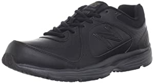 New Balance Men's MW411 Health Walking Shoe,Black,11 4E US