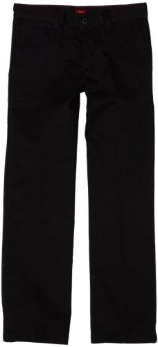 Dickies Big Girls' Stretch Straight Leg Pant, Black, 10 Regular